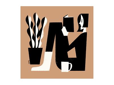 Reading graphic design illustration