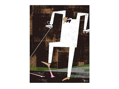 Sticky chewing gum illustration