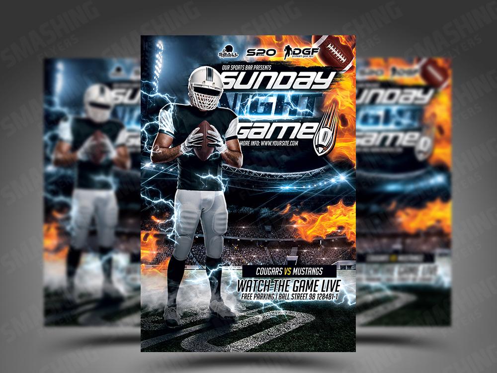 american football flyer psd template by smashingflyers dribbble