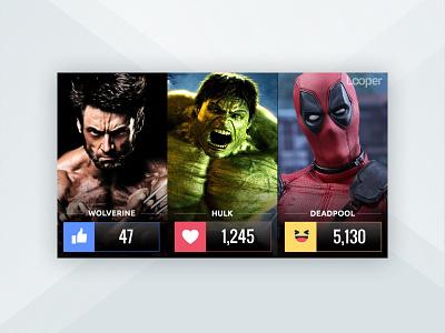 Looper Facebook Live Poll Templates entertainment marketing graphic design visual design