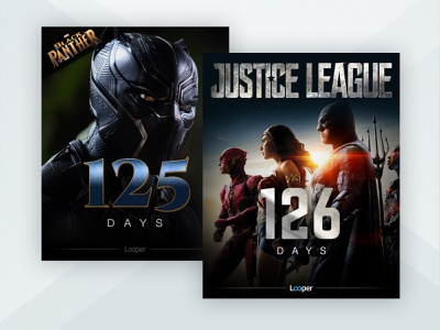 Looper Social Movie Countdown Templates marketing social media design entertainment graphic design visual design