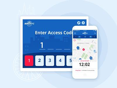 BikeNYC product design dashboard mobile app bikes research visual design ui design