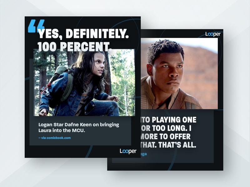 Looper Instagram Quote Templates entertainment social media visual design design graphic design marketing templates