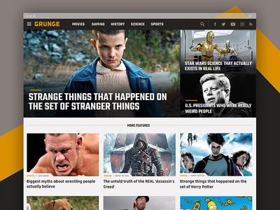 Grunge.com responsive web design visual design ui design
