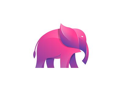Elephant animal graphic icon vector logodesign elephant logo modern illustraion logo colorful branding brand elephant