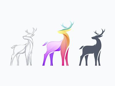 Deer Logo Design Concept graphic vector logo design logodesign logotype logos logo sketch deers deer illustration deer logo deer