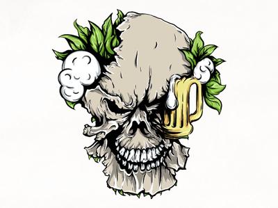 Skeleton beer branding digital vector artworks artwork typography logo design skeleton type design skeleton beer art design logo illustration