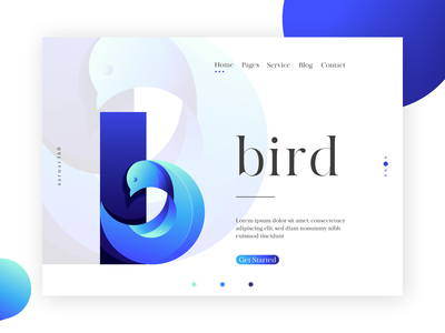 b for Bird logo design ux ui graphic icon app typography web blue artwork design b logo bird saruar360 logo vector illustration