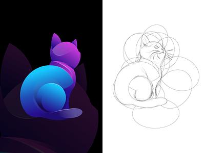 Cat app web graphic animals animal illustration artwork logo icon design vector cat