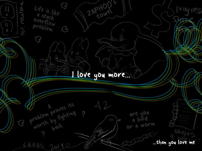 Weekly Warm-Up | Chalkboard love valentines mathart siblings vector lineart digitalart typography illustration dribbbleweeklywarmup challenge weekly warm-up weekly challenge design