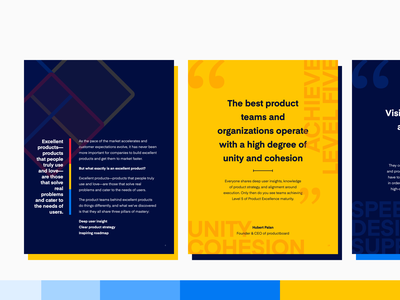 ebook   The Product Excellence Maturity model   productboard handbook guides saas marketing design print design page layout e-book lead magnet pull quote editorial layout editorial design ebook layout ebook design ebook typography lineart design