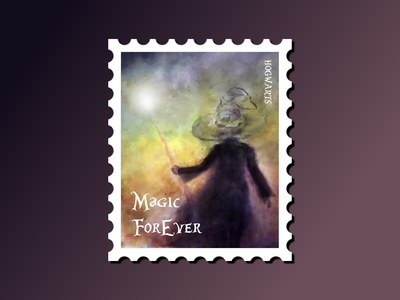 Hogwarts stamp travel stamp learning grow fun community watercolor magic illustraion harrypotter print design digitalart illustration design dribbbleweeklywarmup challenge weekly warm-up weekly challenge typography branding