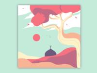 Eid Mubarak Background Illustration