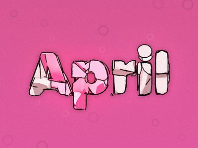 Happy April! illusion purple and blue pink music michael murphy prespective rocks blue purple 3d render cinema4d c4d 3d art design