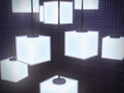 Softbox cubes cube lighting glow render cinema4d c4d 3d art design