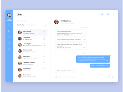 Daily UI №013 Direct messaging