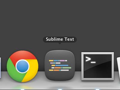 Sublime Text Icon - Dark