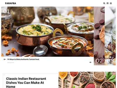Farafra - Food Ghost Theme by Haunted Themes ghost theme restaurant recipe cooking food website web theme template ghost blog articles