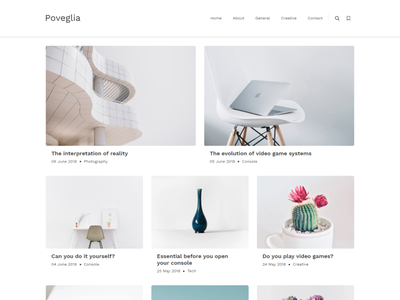 Poveglia - Multipurpose Ghost Theme by Haunted Themes design template web writer author articles typography theme website ghost ghost theme blog