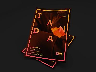 Tanda Creative Promotion Flyer branding business illustration vector graphic deisng flyer advertising