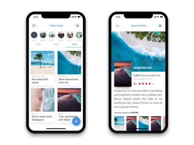 Travel Guide App travel interaction design user interface ios ux ui  ux ui