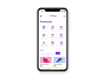 Trift Shop App e-commerce ux xd web logo deisng corporate illustration ui adobe vector experience business advertising graphic app mobile design user interface
