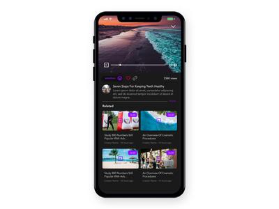 Dark video player app minimal type icon website flat animation web branding deisng ui xd typography ux experience app graphic mobile design user interface