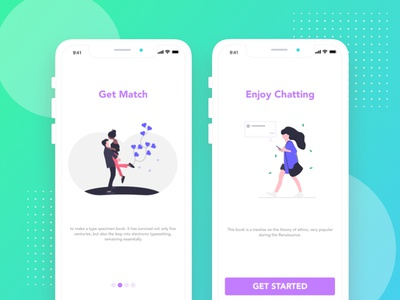 Date apps Started page flat website typography lawyer illustration animation web business xd corporate ux ui adobe experience graphic app mobile design user interface