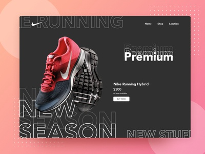 Nike Landing page branding agency lawyer illustration deisng corporate vector ux ui xd adobe advertising business experience graphic app user mobile design interface