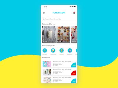Dessert online order website flat xd deisng illustration web food app icon adobe ui ux advertising business experience graphic app mobile design user interface