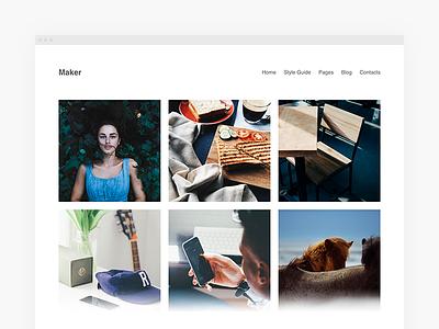 Maker Portfolio WordPress Theme layout themes wordpress minimal portfolio