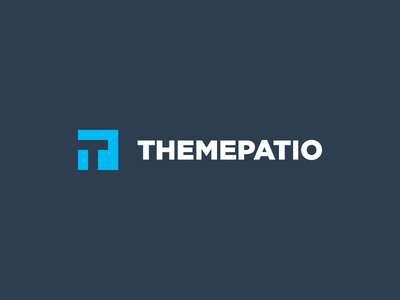ThemePatio Logo blue minimal logo