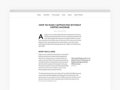 New Theme Sneek Peek theme wordpress simple grid typography minimal