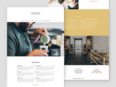 Counter – WordPress Theme for Small Businesses interface clean ux ui wordpress restaurant cafe coffee shop responsive minimalistic minimal wordpress theme