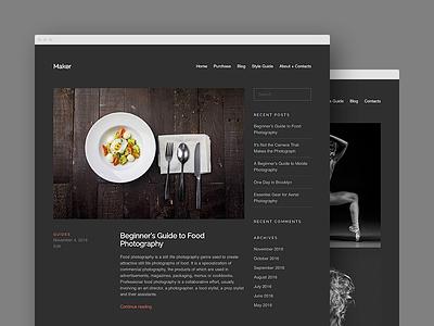 Blog Layout blog ux ui layout grid wordpress portfolio wordpress theme dark minimal
