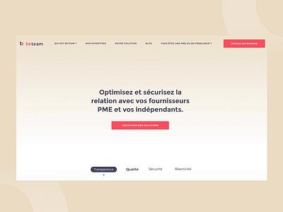 Beteam Homepage 🖥 logo animation parallax design branding ui ux interaction