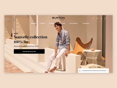 Homepage • Burton of london homepage branding ui ux interaction