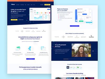 🖥• Libeo Homepage branding typography vector icon illustration design homepage interaction ux ui