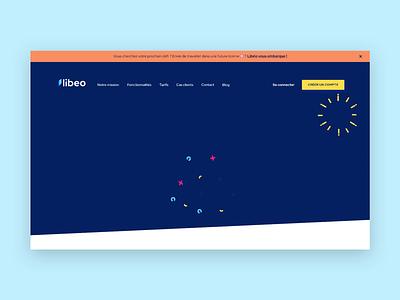 🖥• Libeo Homepage parallax homepage design animation illustration ui ux branding interaction