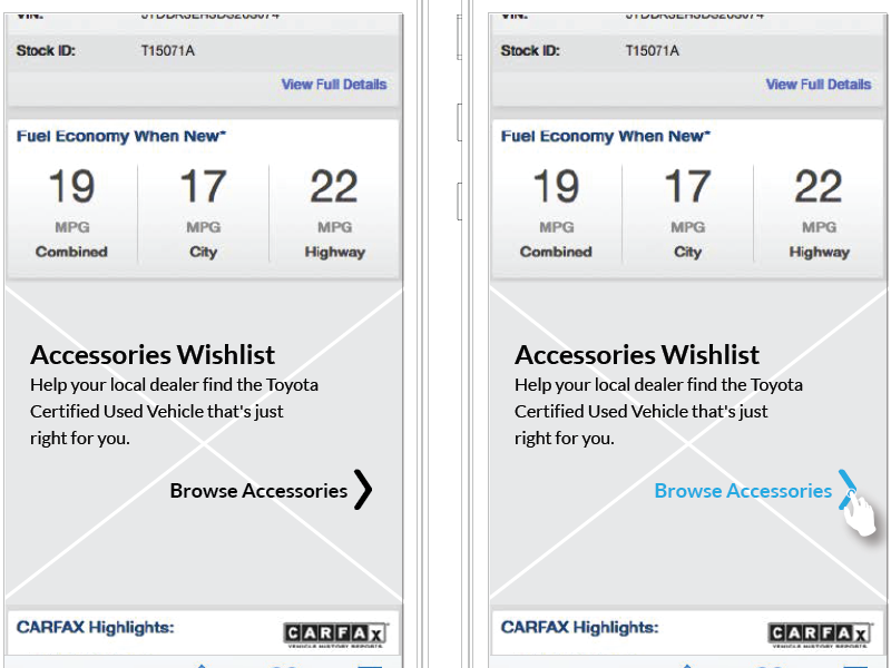 Wireframe Native App-Car by Mari Ettlinger on Dribbble