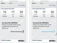 Wireframe Native App-Car