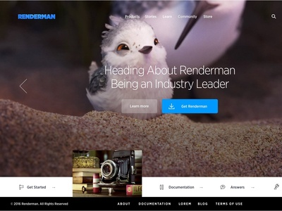 Pixar--Renderman Website/Redesign
