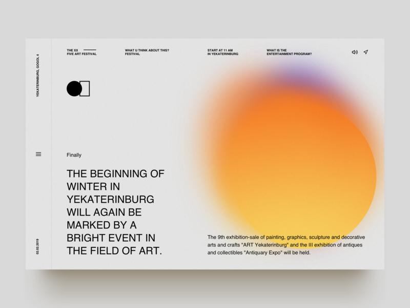 Art exhibition art app white typography service clear ui  ux design uiux blue simple design clean animate web ux design daily 100 uidesign ux ui dribbble design