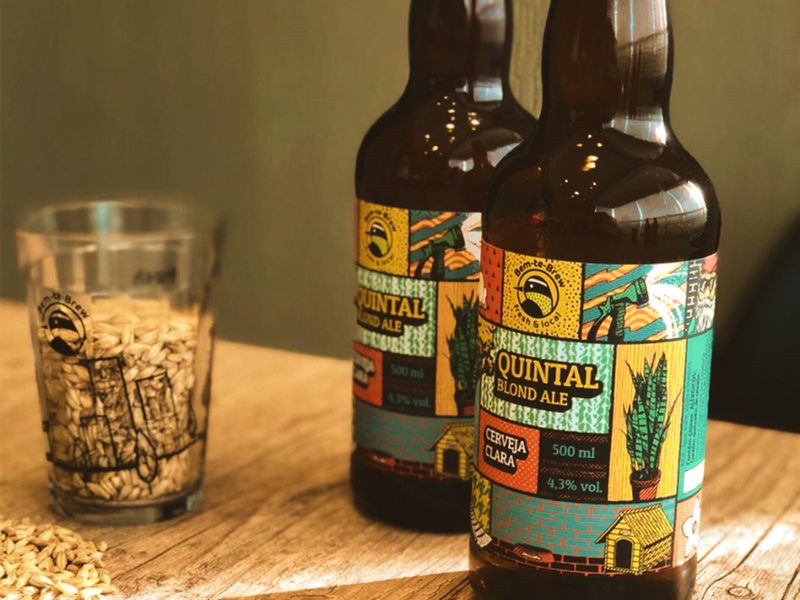Bem-te-Brew Beer Label illustration texture branding logo packaging label beer label craft beer brewery craft beer