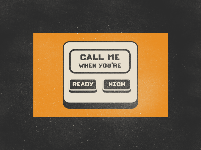 Indie crossover vintage sticker illustration smartphone cellphone music high ready call call me texture poster gig indie rock rock cage the elephant arctic monkeys indie