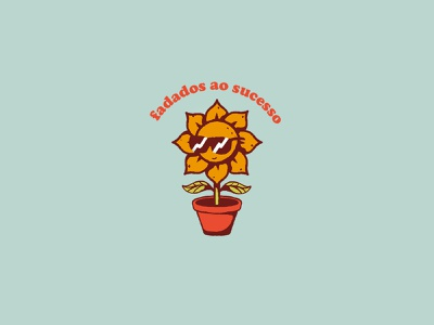Doomed to Succeed badge stickers illustration friday succeed doomed cartoon logo street vintage plant shades retro skate texture sticker sunflower