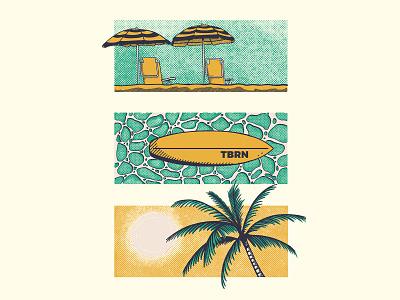 Chillin brand branding illustration surfing surf tattoo old school vintage texture clothing shirt t shirt tshirt apparel vibes good vibes chilling chill beach