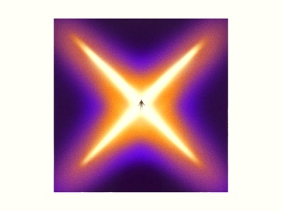 End gig poster poster editorial illustration editorial illustration journey ascension star starburst sunset gradient start explosion x end