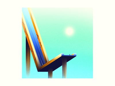 Resting gig poster poster editorial illustration illustration abstract illusion sureal gradient noise retro vintage texture grit 36daysoftype sky sun