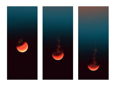 Fleeting poster illustration zodiac sky stars space gradient moon blood moon lunar eclipse texture eclipse lunar